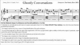 Trinity TCL Piano 2015-2017 Grade 1 No.6 Paul Harris Ghostly Conversations Sheet Music