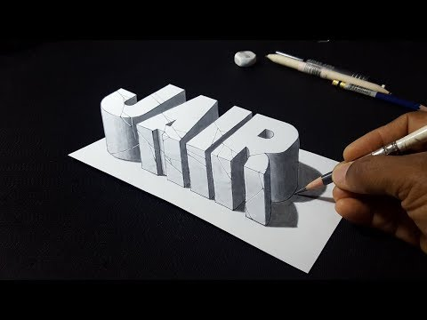 How to Draw 3D Jair Name - 3D Popular Names - Request