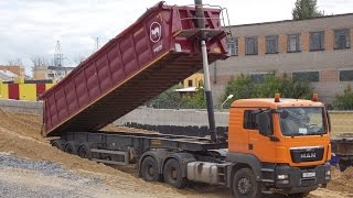 Download Volvo FMX and Man TGS with Wielton tipper semitrailers Mp3 and Videos
