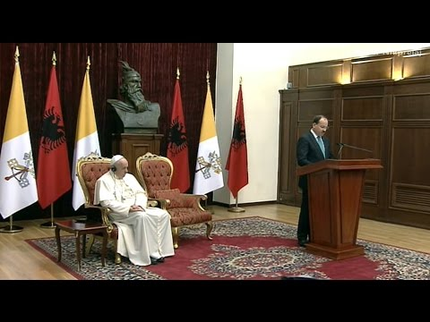 Presidenti BUJAR NISHANI - CEREMONIA E MIRSEARDHJES PAPA FRANCESKO