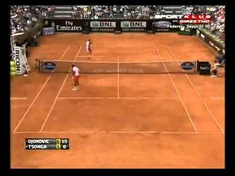 Novak Djokovic vs Jo-Wilfried Tsonga - ATP Rome 2012 .
