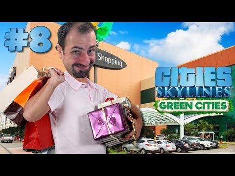 🏦🏢 MEGA SHOPPING CENTER E ECO BUSINESS !! - Cities Skylines Green Cities #8