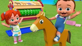 Animals Names for Children to Learning with Little Babies Fun Play Wooden Playhouse Toy Set 3D Kids