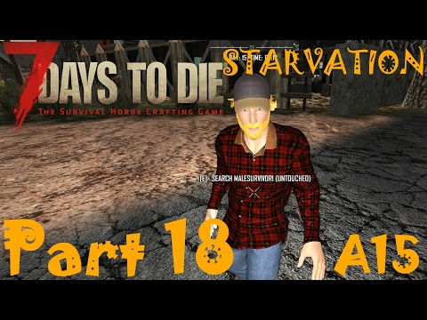 RATS, 14th HORDE, WALL CRUSHER, RADIO AND NPC SURVIVOR!!!  | 7 Days To Die Starvation A15 | Part 18