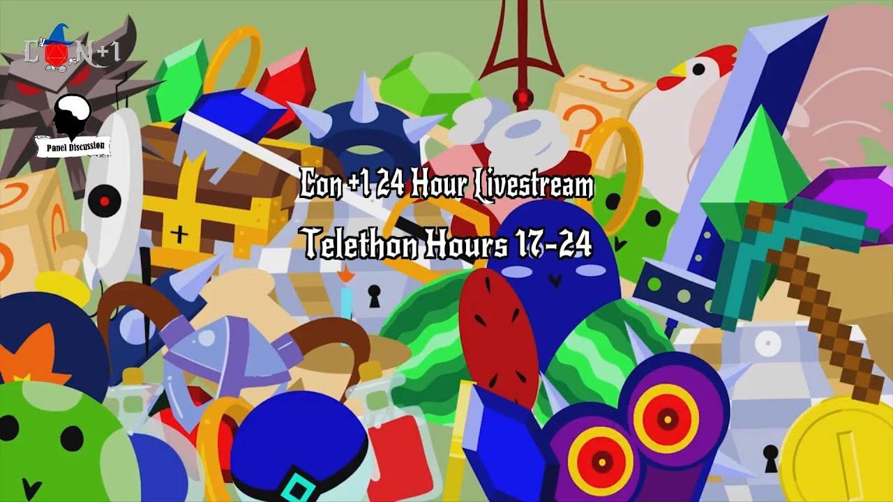 Con +1 24 Hour Livestream Telethon Hours 17-24