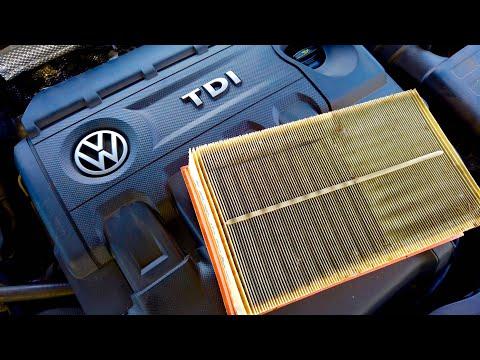 VW Golf MK7 (5G) TDI air filter replacement