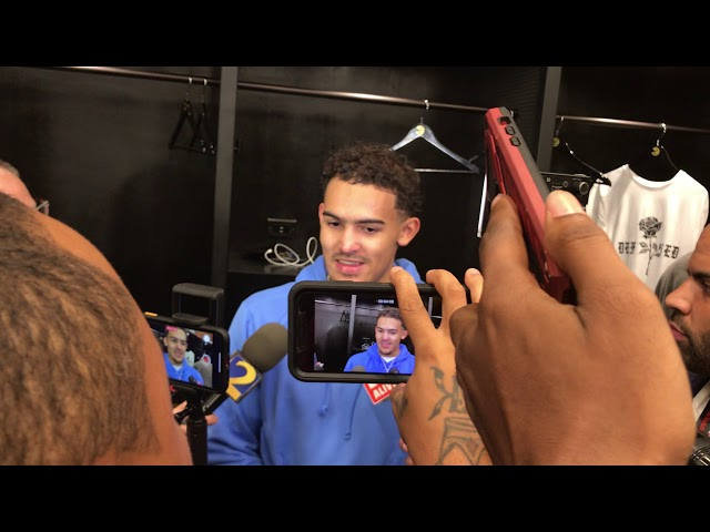 Atlanta Hawks Guard Trae Young Postgame Interview (10-26-19)