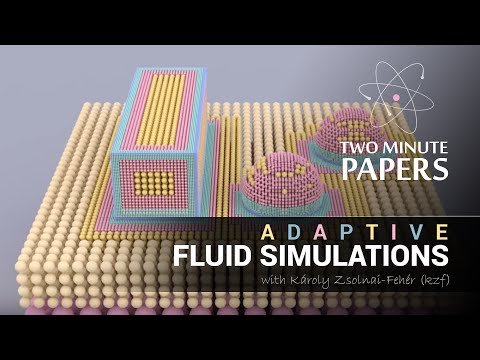 Adaptive Fluid Simulations   Two Minute Papers #10