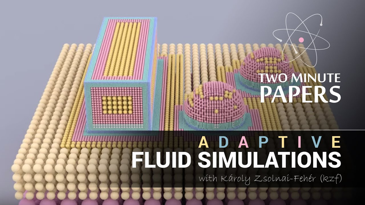Adaptive Fluid Simulations | Two Minute Papers #10 by Two Minute Papers