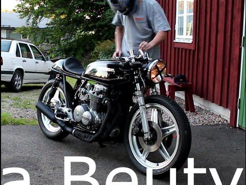 Honda CB 650 Cafe Racer startup  testdrive  YouTube