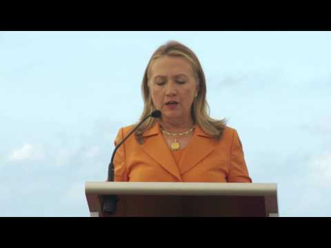 Secretary Clinton at the Sustainable Development and Conservation Event in Cook Islands