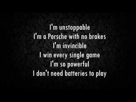 Sia - I'm Unstoppable (The Fifty Shades Darker) (Lyrics)