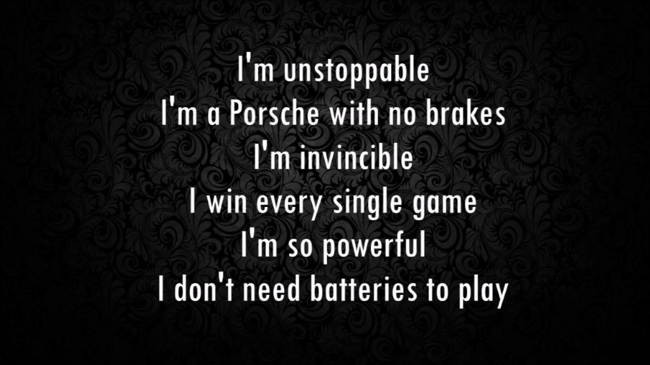 Iveta Sunshaded sia - i'm unstoppable (the fifty shades darker) (lyrics)