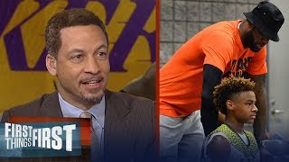 Chris Broussard and Doug Gottlieb on LeBron dunking at son's AAU game | NBA | FIRST THINGS FIRST