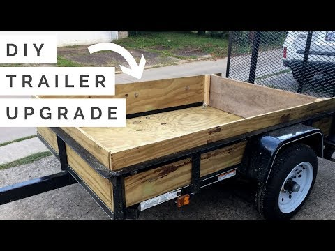 CHEAP + EASY DIY 4x6 Trailer Upgrade | How to Build a Plywood Floor and Walls For Your Lowes Trailer