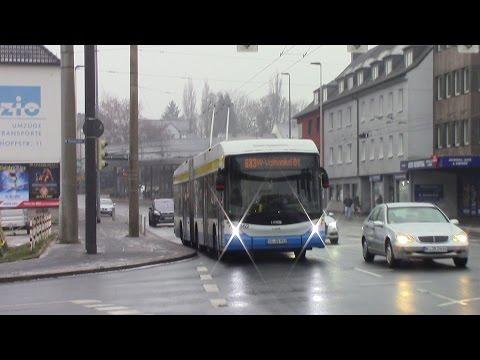 O-Bus Solingen Trolleybus Ride Route 681 Hästen ⇒ Hbf