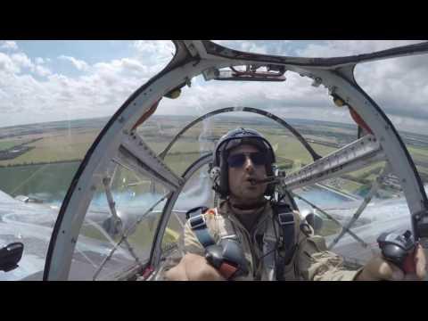 P38 Lightning & F4U4 Corsair Flying Bulls at Duxford 2016