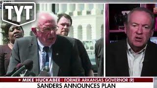 Mike Huckabee Panics Over New Bernie Plan