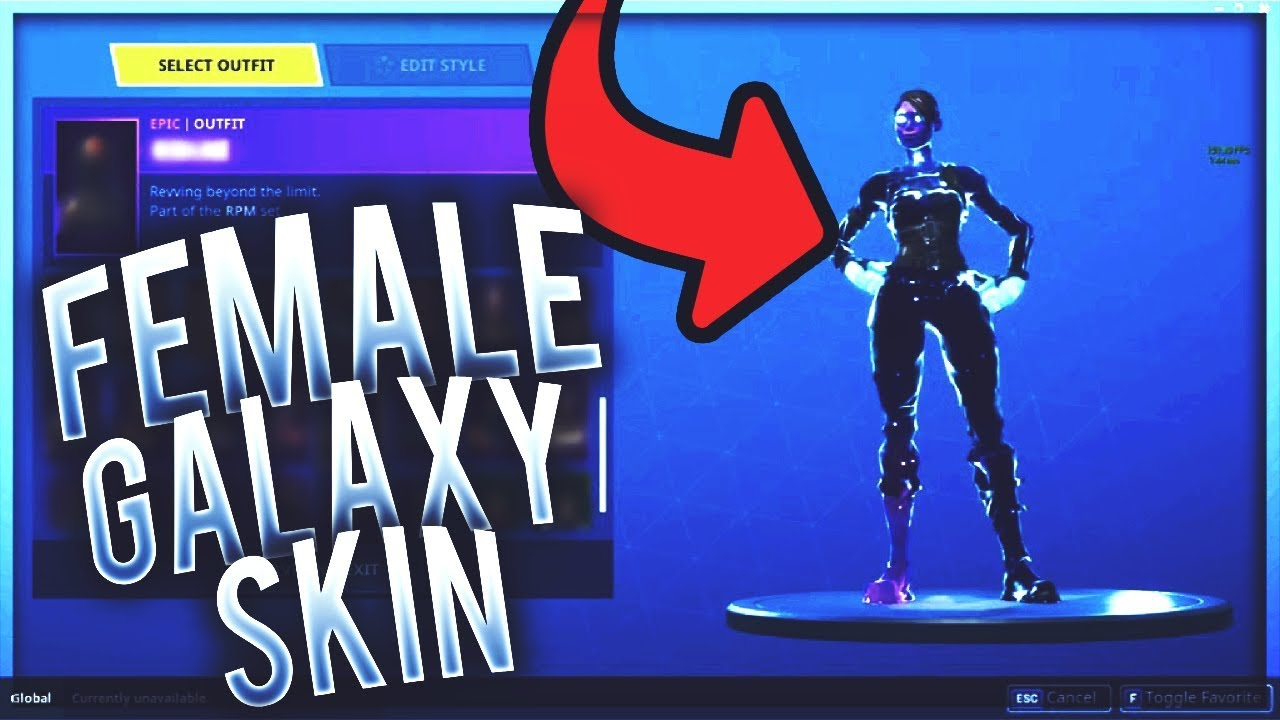 How to Get the FEMALE GALAXY SKIN in FORTNITE! FREE GALAXY ...