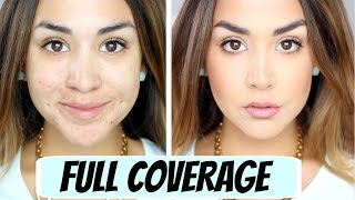One of Alexandrea Garza's most viewed videos: FULL Coverage Foundation Routine | ALEXANDREA GARZA