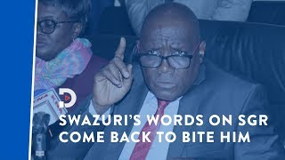 Muhammad Swazuri's words come back to bite him