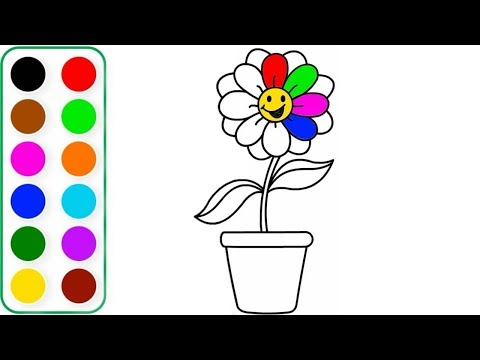 how-to-draw-a-beautiful-flower-for-kids-|-flower-drawing-for-kids-|-flower-coloring-step-by-step