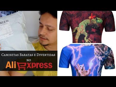 Camisetas engraçadas/divertidas e baratas no Aliexpress [UNBOXING e REVIEW]