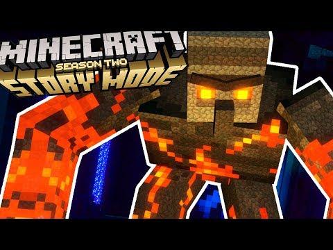 WHAT LIES BELOW THE BEDROCK!? Minecraft Story Mode Season 2 Episode 4
