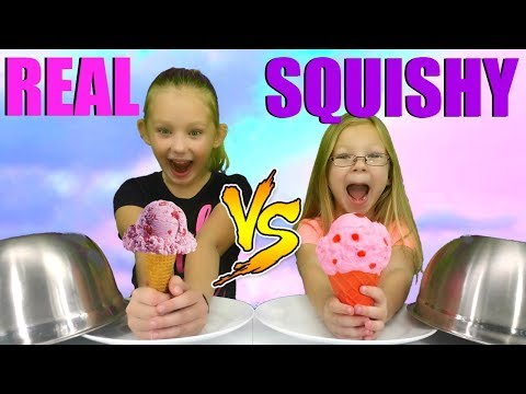 Ultimate SQUISHY Food vs REAL Food Challenge!!!