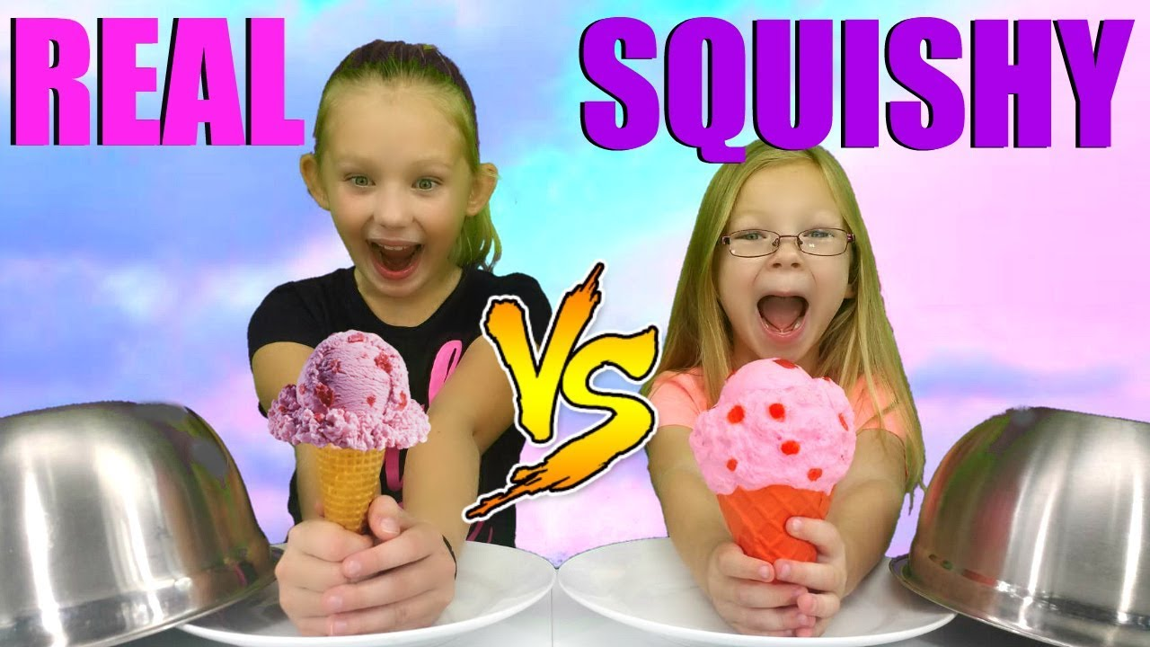 Squishy Toys Vs Real Food : Ultimate SQUISHY Food vs REAL Food Challenge!!! - YouTube