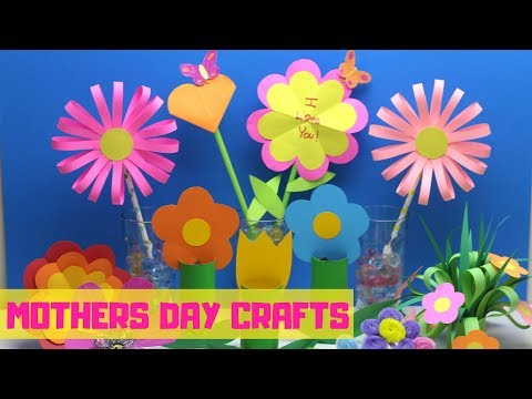 Mothers Day Crafts for Kids   Flower Craft Ideas