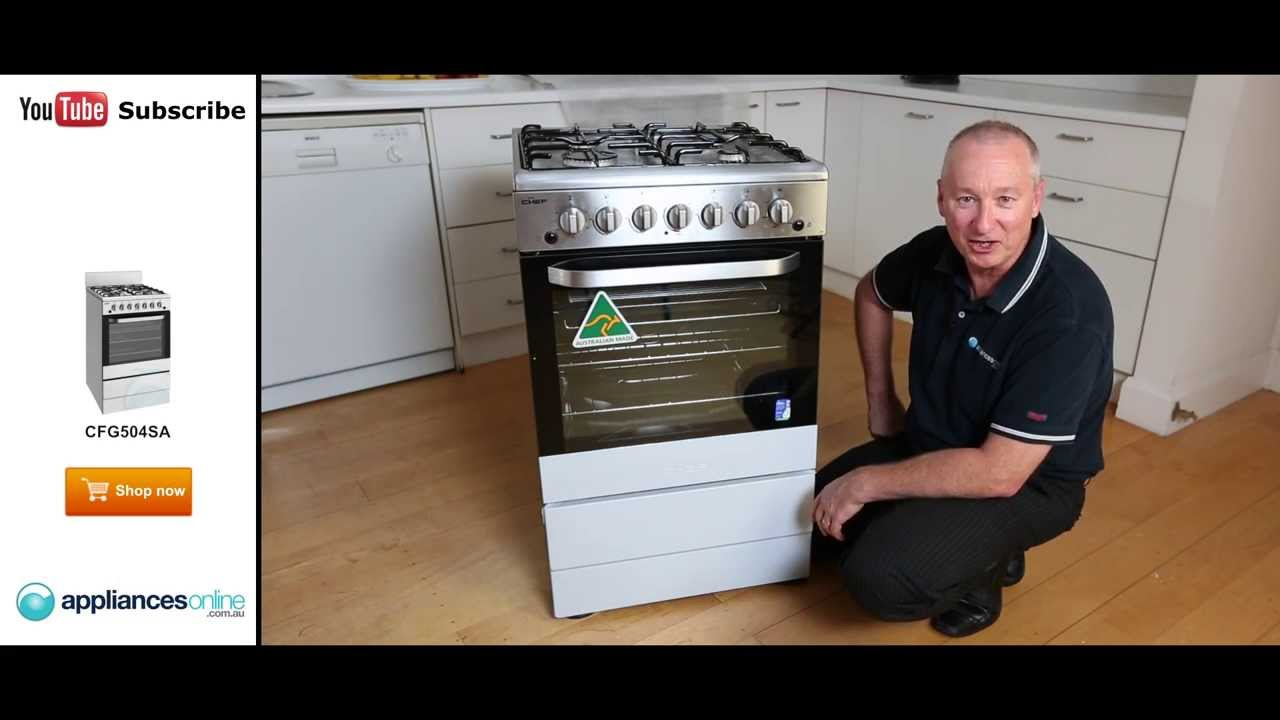 Expert Review Of The Freestanding Chef Gas Oven Stove Cfg504sa Appliances Online Youtube