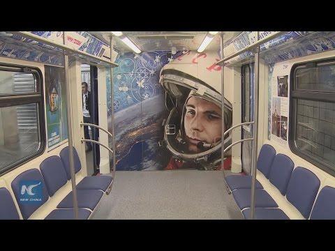 Moscow launches 'cosmic' metro train for Cosmonautics Day