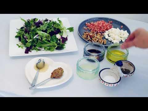 Pomegranate Feta and Walnut Salad