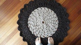 Tutorial de alfombra de trapillo a ganchillo (PARTE 1)