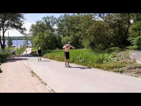 Лыжероллеры Интервальная тренировка 30 сек через 3:30мин 30 км