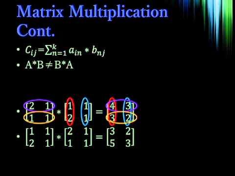 Discrete Mathematics 4: Matrix Math