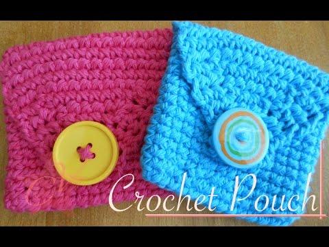 Lovely Crochet Pouchbag Video Tutorial Left Handed Youtube