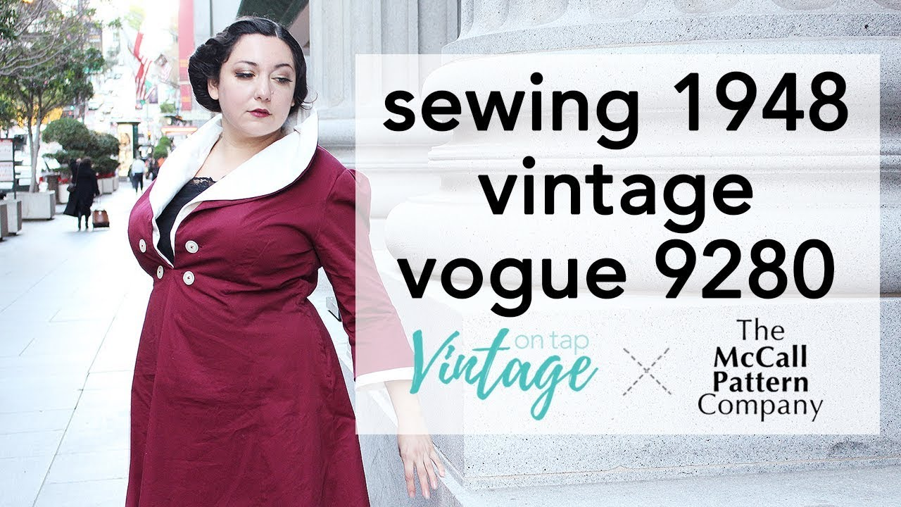3cf6f5e2658aa How to Sew Vintage Vogue 9280   Vintage on Tap
