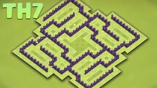 Best Town Hall 7 (Th7) Farming/hybrid Base 2016 - Protect TH/Storages + Defense replays