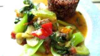 Cooking - Instant Vegetable Stew With Red Cargo Rice 01