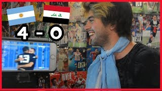 ARGENTINA 4 - 0 IRAK | Argentino reacciona al partido de Paulo Dybala y Lautaro Martinez