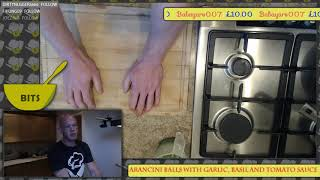 Cooking Arancini Balls With A Garlic, Basil & Tomato Sauce With Good Company