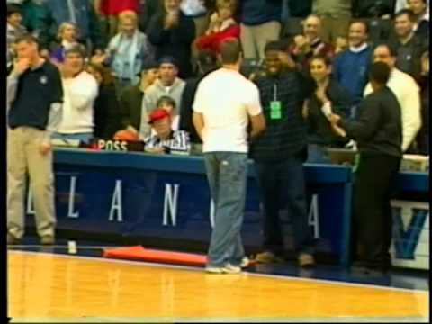 Thumbnail: Back to back Halftime Half Court Shot challenge winners - Villanova Basketball