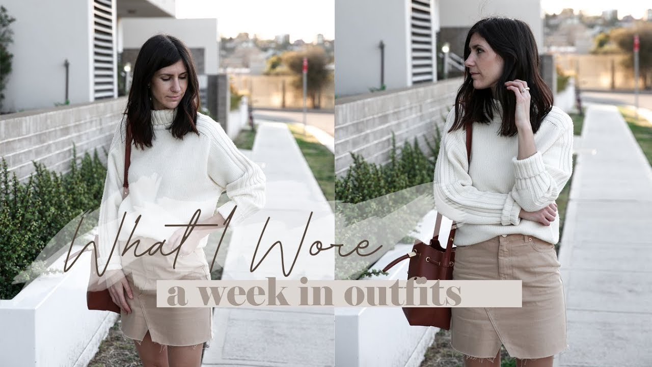 [VIDEO] - A Week in Outfits #14 - Spring Outfits of the Week & my Transitional Uniform | Mademoiselle 4