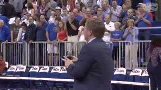 Florida Football: Jim McElwain Basketball Halftime