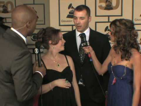 The 50th Grammy Awards - Melissa Joan Hart Red Carpet Interv