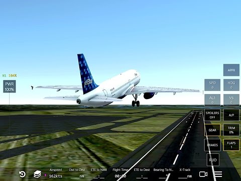 Infinite Flight Airbus A-320. Multiplayer.New York.