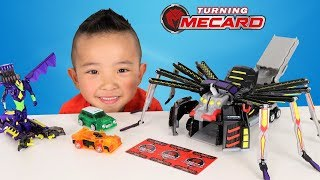 TURNING MECARD Mega Spider Auto Transforming Cars Toys Unboxing With Ckn