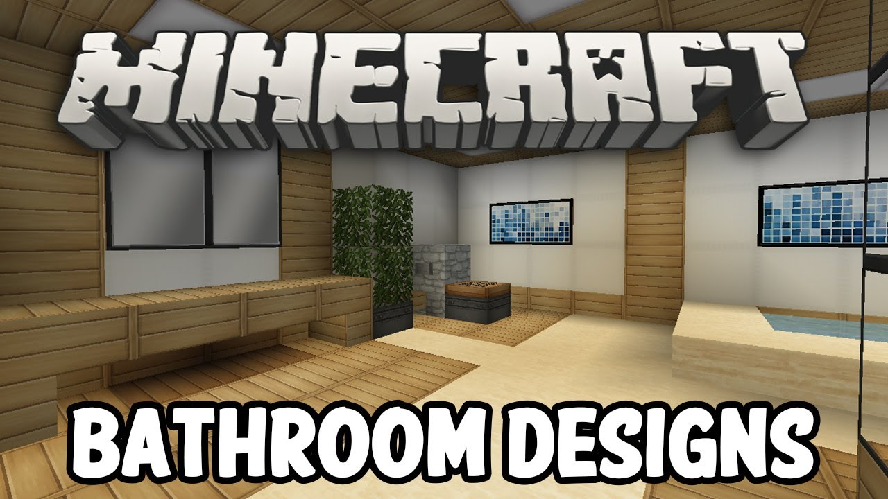 Minecraft interior design bathroom edition youtube Living room furniture minecraft